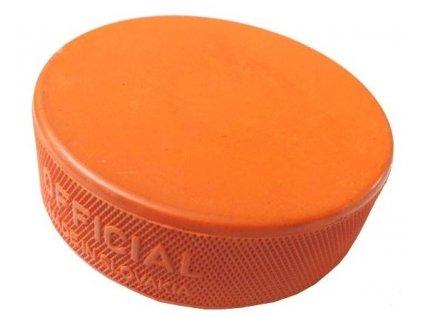 Hokejový puk 1.třídy těžký oranžový, hokejový trénink, hokejová míček, hokejový puk, střelecká deska, hokejová podlaha, hokejová brána, sušák hokejové výstroje, chránič zubů, tkaničky do bruslí, střelecká plachta, střelecký terč, my enemy, trénink techniky s pukem