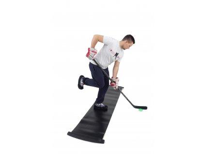 Hokejový slideboard 180x50cm, hokejový trénink, hokejová míček, hokejový puk, střelecká deska, hokejová podlaha, hokejová brána, sušák hokejové výstroje, chránič zubů, tkaničky do bruslí, střelecká plachta, střelecký terč, my enemy, trénink techniky s pukem