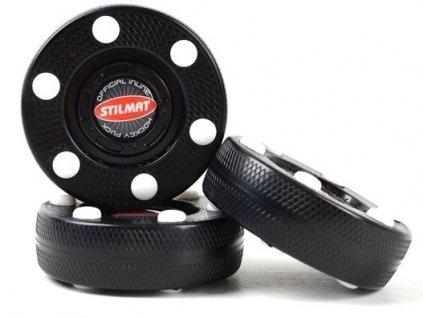 In-line puk STILMAT, hokejový trénink, hokejová míček, hokejový puk, střelecká deska, hokejová podlaha, hokejová brána, sušák hokejové výstroje, chránič zubů, tkaničky do bruslí, střelecká plachta, střelecký terč, my enemy, trénink techniky s pukem