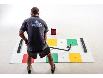 Hokejová podlaha MY puzzle, střelecká deska Shooting Pad, hokejový trénink, hokejová branka, hokejová míček, hokejový puk