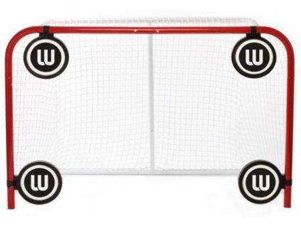 Pěnový střelecký terč Winnwell, hokejový trénink, hokejová míček, hokejový puk, střelecká deska, hokejová podlaha, hokejová brána