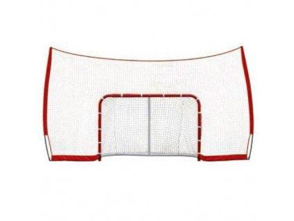 """Postranní síť Winnwell 72"""" s uchycením o branku, hokejový trénink, hokejová míček, hokejový puk, střelecká deska, hokejová podlaha, hokejová brána"""