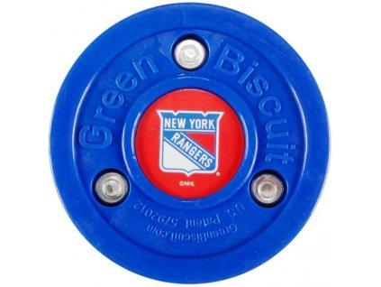 Stickhandling PUK - GREEN BISCUIT New York Rangers, hokejový trénink, hokejová míček, hokejový puk, střelecká deska, hokejová podlaha, hokejová brána, sušák hokejové výstroje, chránič zubů, tkaničky do bruslí, střelecká plachta, střelecký terč, my enemy, trénink techniky s pukem