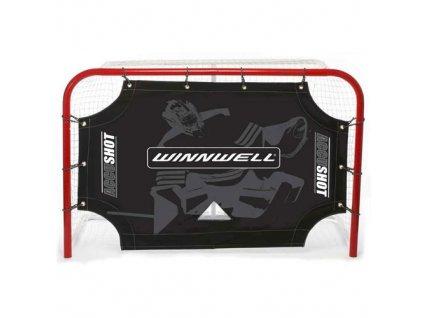 """Střelecká plachta na puky 72 """"WinnWell Accushot, hokejový trénink, hokejová míček, hokejový puk, střelecká deska, hokejová podlaha, hokejová brána"""