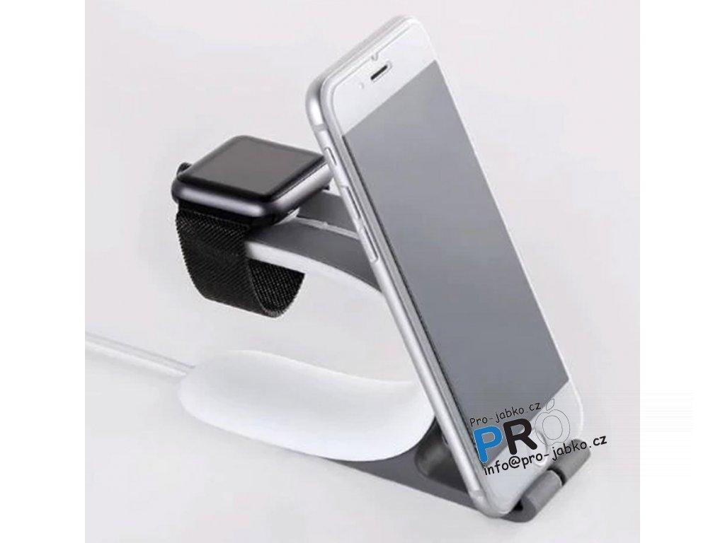 2v1 multi dock stojan Syrinx pro iPhone / Apple Watch