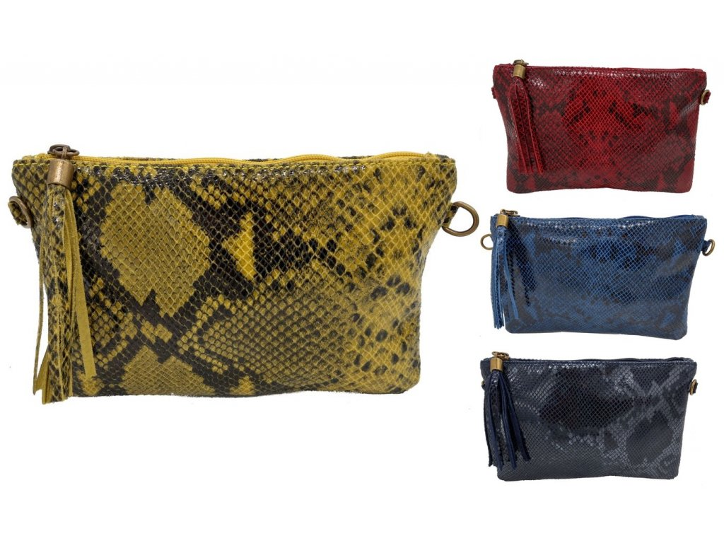 Dámská kožená kabelka DONATELLA 16519 (Barva ČERVENÁ)