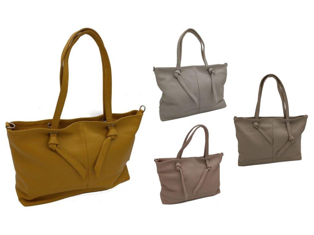 Dámská kožená kabelka DONATELLA 714519 (Barva BEIGE)