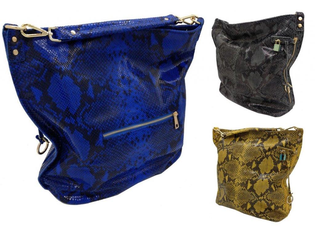 Dámská kožená kabelka DONATELLA 715219 (Barva Modrá)