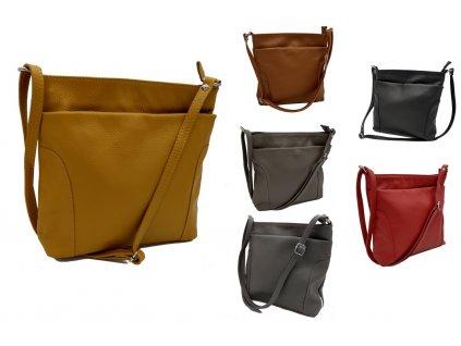 Dámská kožená kabelka DONATELLA TR17719 (Barva ČERNÁ)