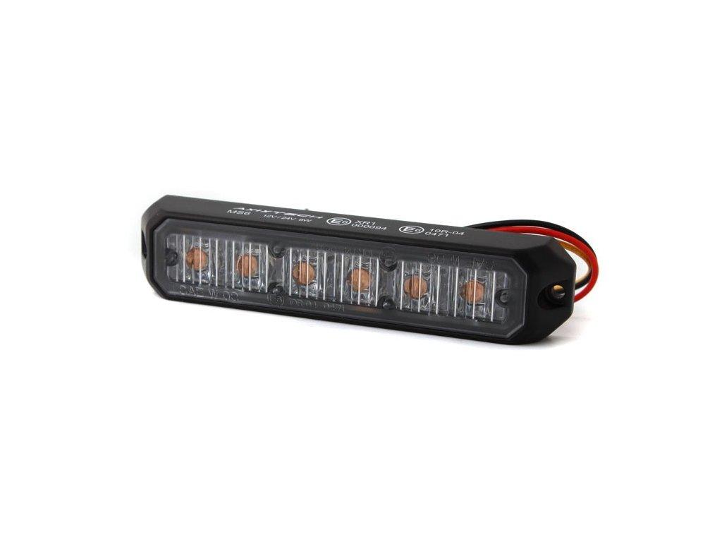 Poziční výstražné světlo, 6 LED, Class 2, R65, oranžové MS6C2-A