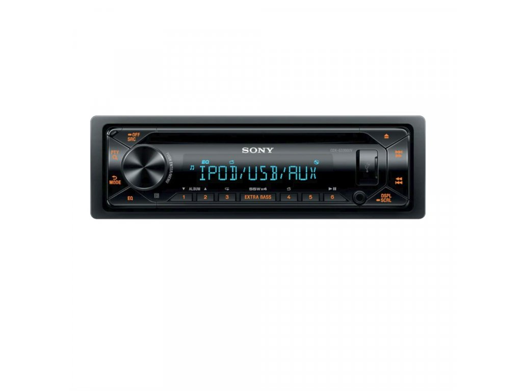 Autorádio SONY, 1DIN s CD, AUX, USB, dynamic color CDXG3300UV.EUR
