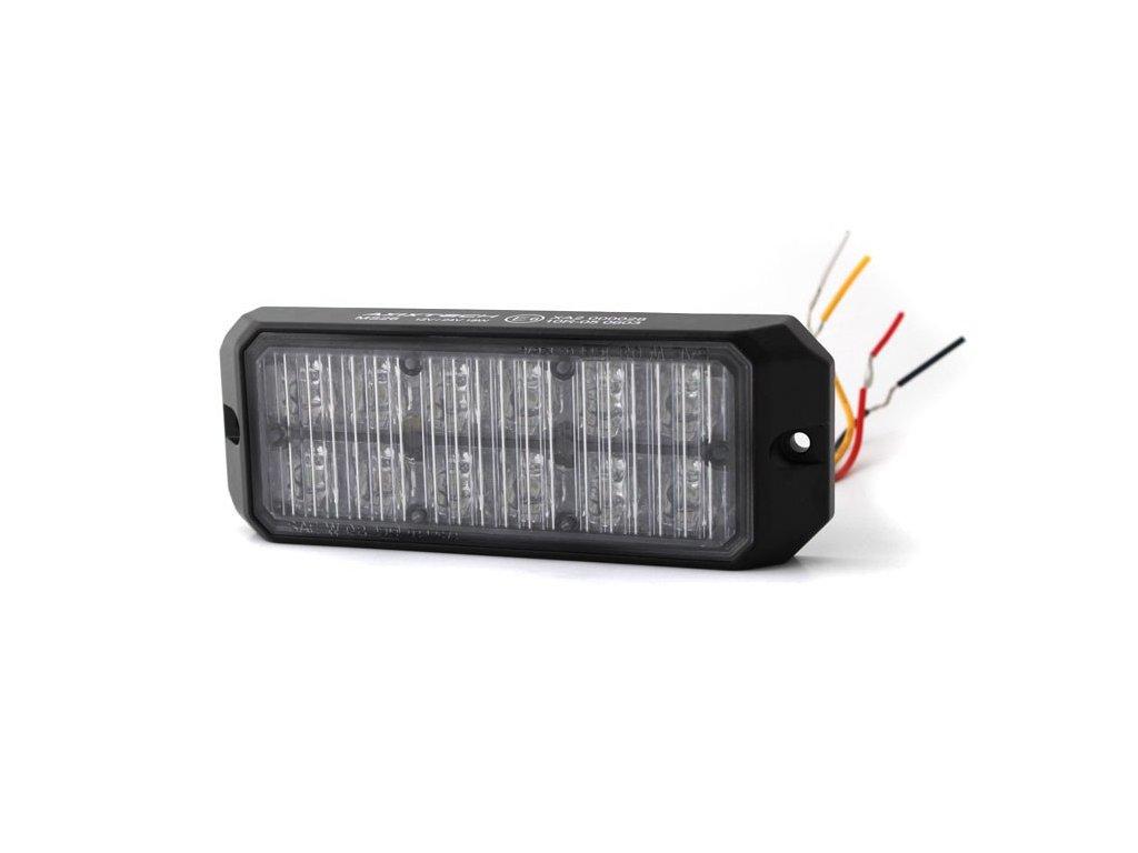 Poziční výstražné světlo, 6+6 LED, modré / červené MS26-BR