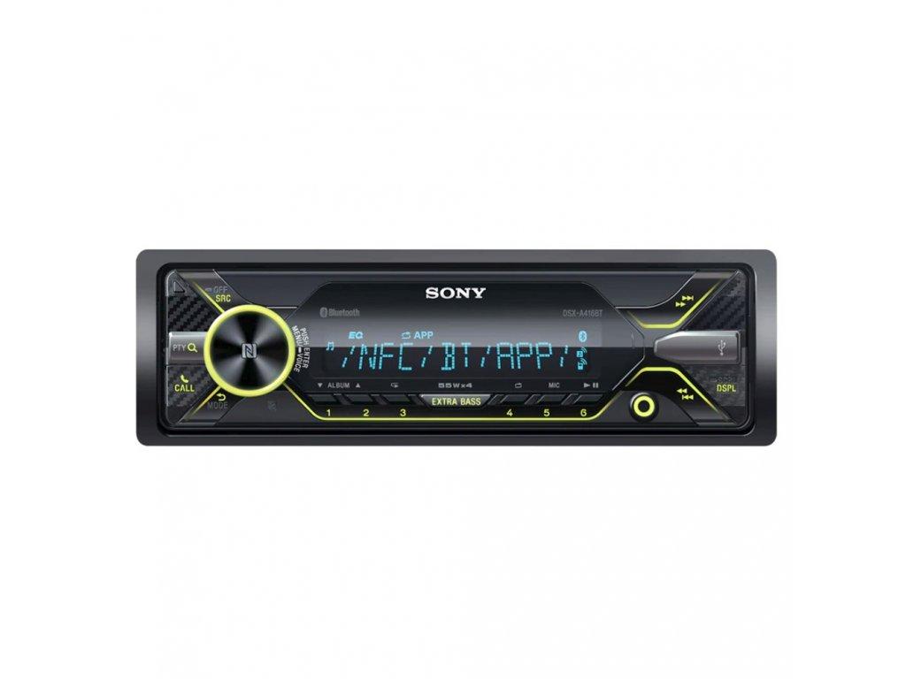 Autorádio SONY, 1DIN, AUX, USB, BT s NFC, dynamické podsvícení DSXA416BT.EUR