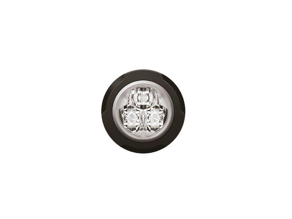 Poziční výstražné světlo, 3 LED,  12-24V, bílé F13-W