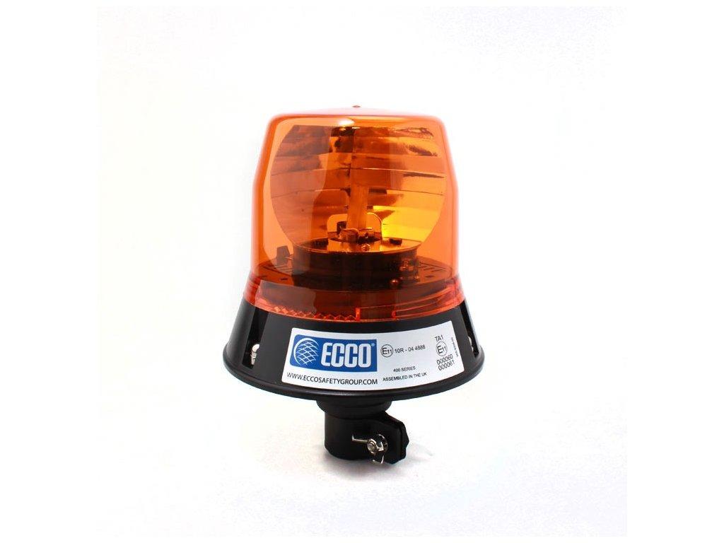 Rotační výstražný maják, úchyt na tyč, R65, oranžový, bez žárovky 402.000