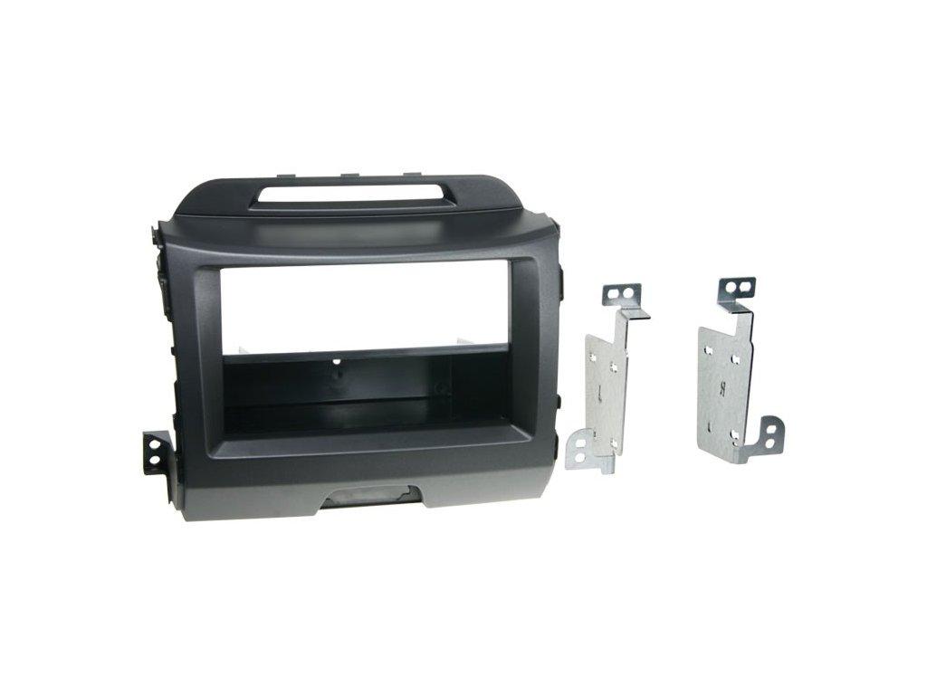 Plastový rámeček 1DIN, KIA Sportage III. (10-) - antracit PF-2500 1
