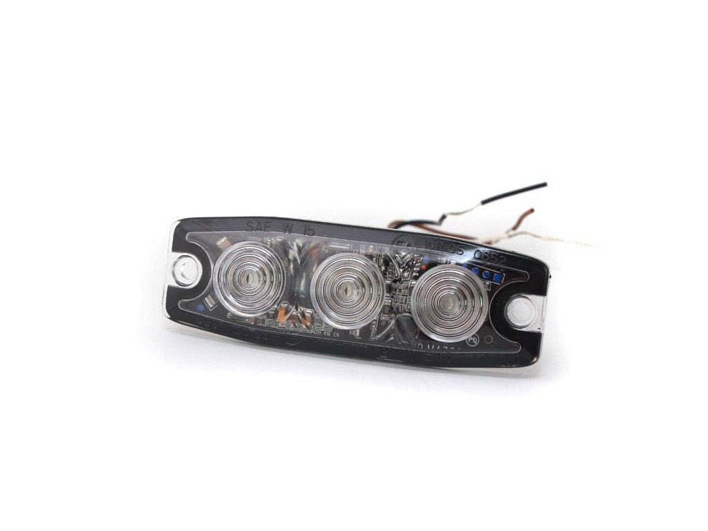 Poziční výstražné světlo, 3 LED, 12-24V, modré LP3-B