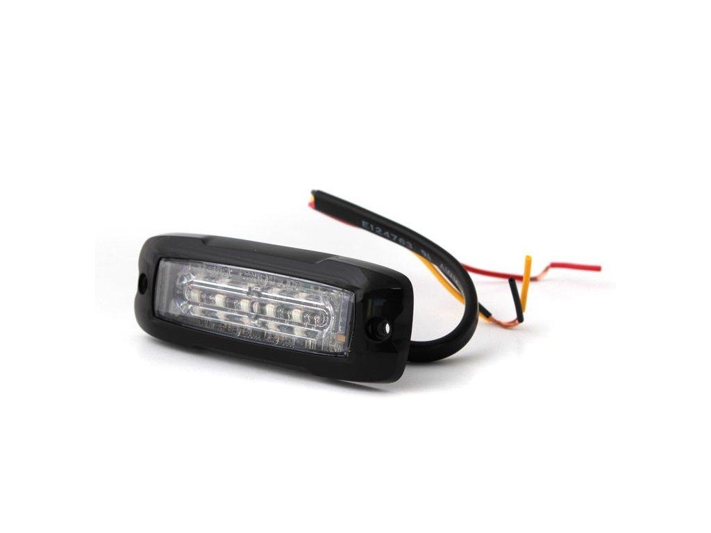 Poziční výstražné světlo, 6 LED, 12-24V, R65, oranžové, XT6-A