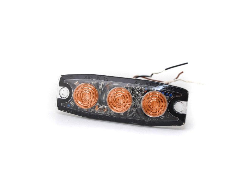 Poziční výstražné světlo, 3 LED, 12-24V, oranžové  LP3-A