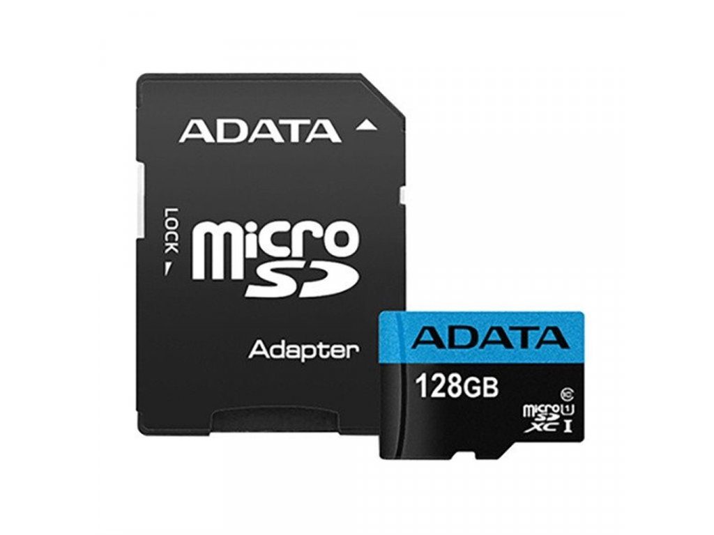 SD karta s SD adaptérem SD CARD 128GB