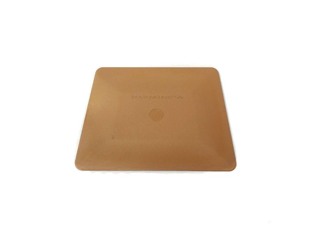 Teflonová stěrka polotvrdá, zlatá, 10cm KF 638 G