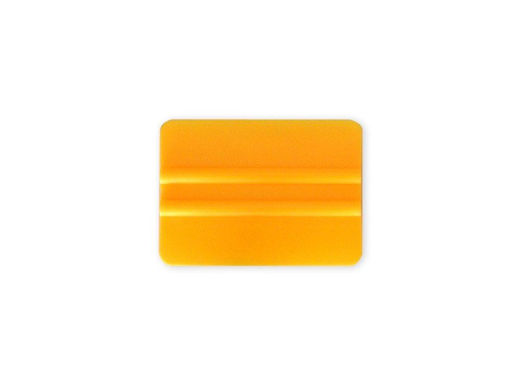 Tvrdá PVC 10cm stěrka, oblé hrany, žlutá KF 634