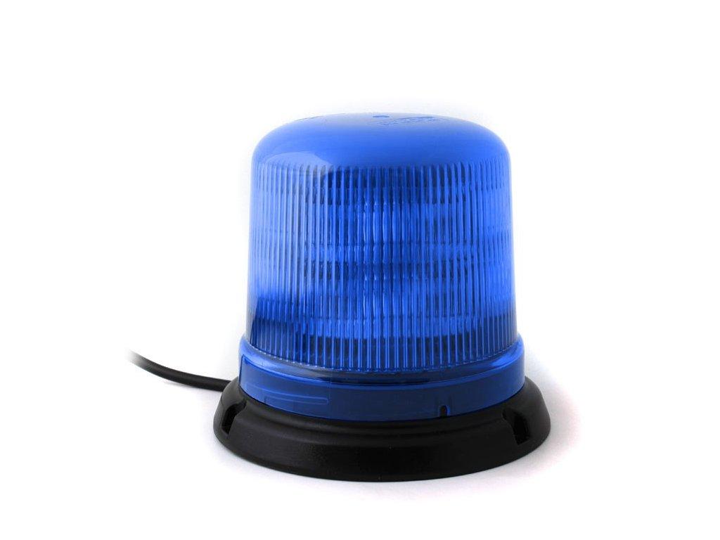 Modrý maják s úchytem na neomagnet, 10LED B14-NEO-B