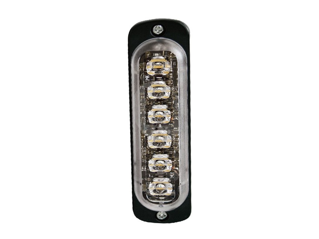 Poziční výstražné světlo, vertikální instalace, 6 LED, R65, oranžové ST6V-A