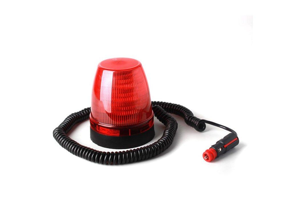 Výstražný maják, 12LED, neomagnetický úchyt, R65, červený LBL-20K1N-R