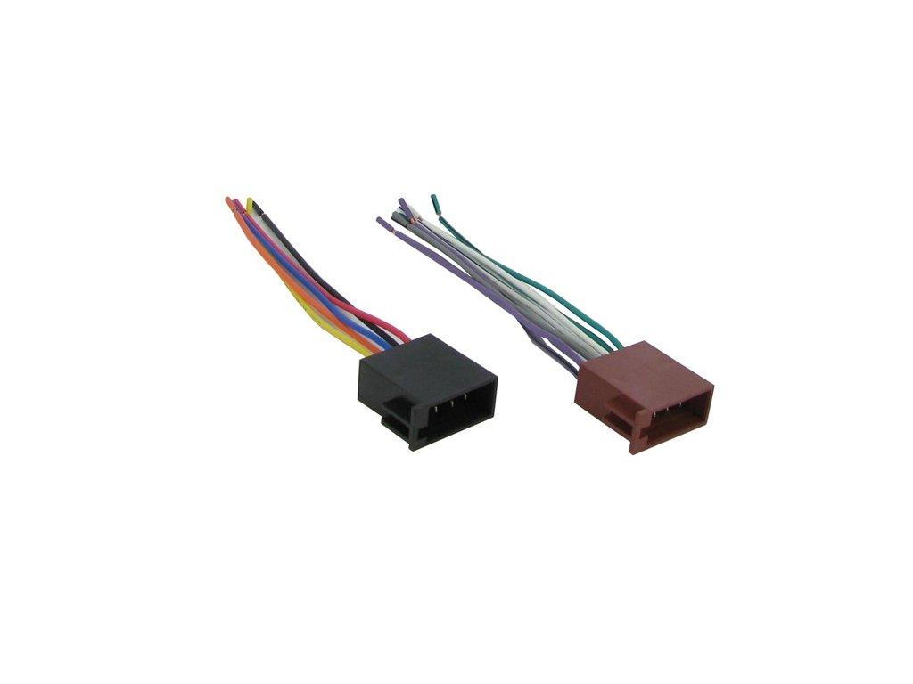 ISO konektor pre autorádia, samec, volné konce RISO-128 UNI