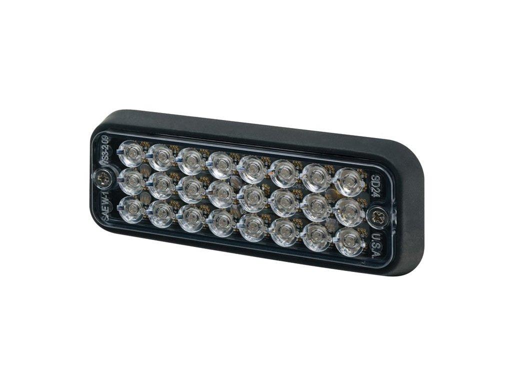 Poziční výstražné světlo, 24 LED, 12-24V, R10, modré 3510B