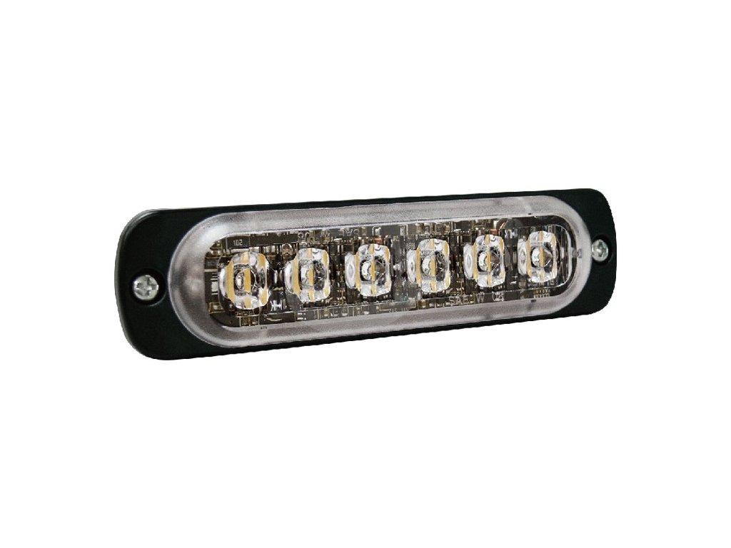 Poziční výstražné světlo, 6 LED, R65, modré ST6-B