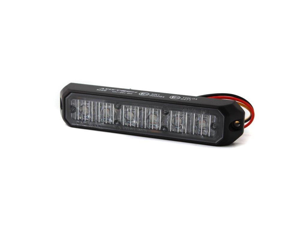 Poziční výstražné světlo, 6 LED, 12-24V, R65, oranžové MS6-A