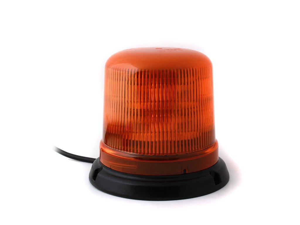 Oranžový maják s úchytem na magnet, 10LED, B14-MAG-A