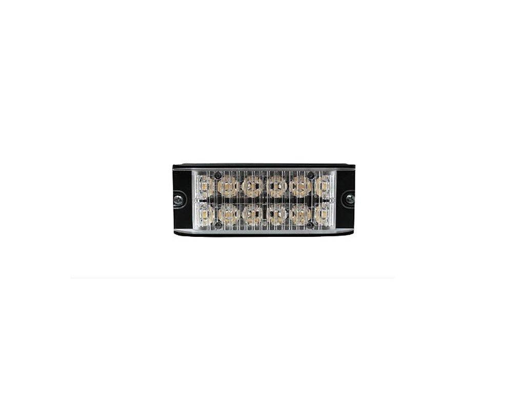 Poziční výstražné světlo, 12 LED, 12-24V, R65, modré ID26-B