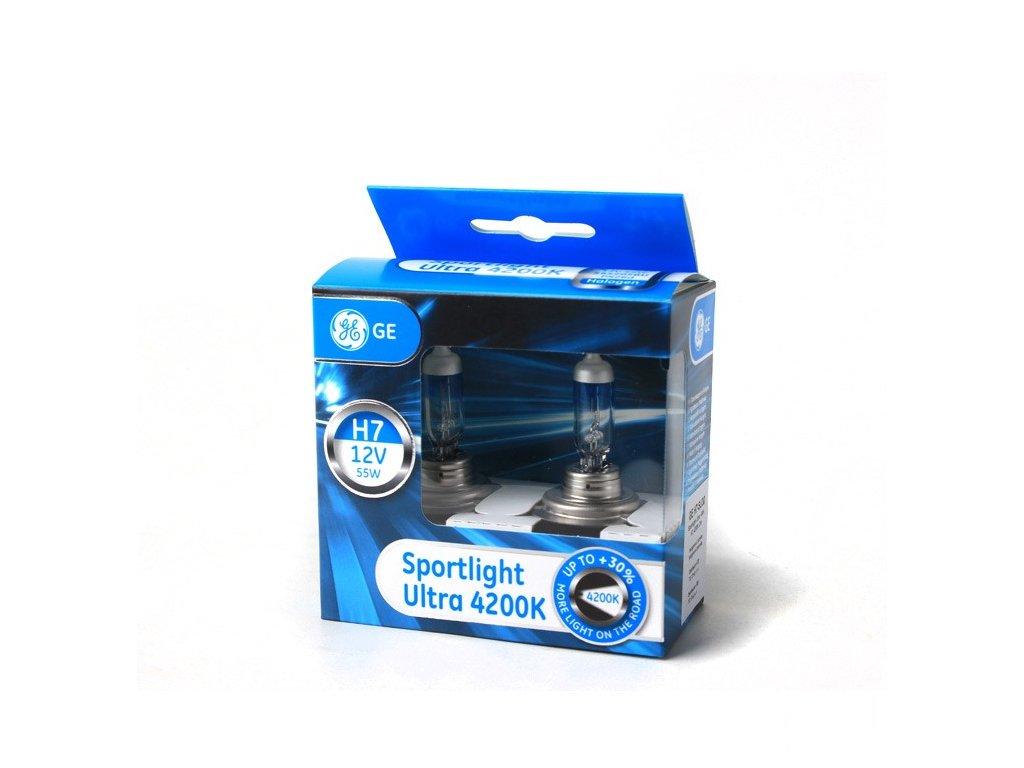 GE Halogénová žárovka Sportlight Ultra +30%,  H7, 4200K, 2ks, GE H7-SU30