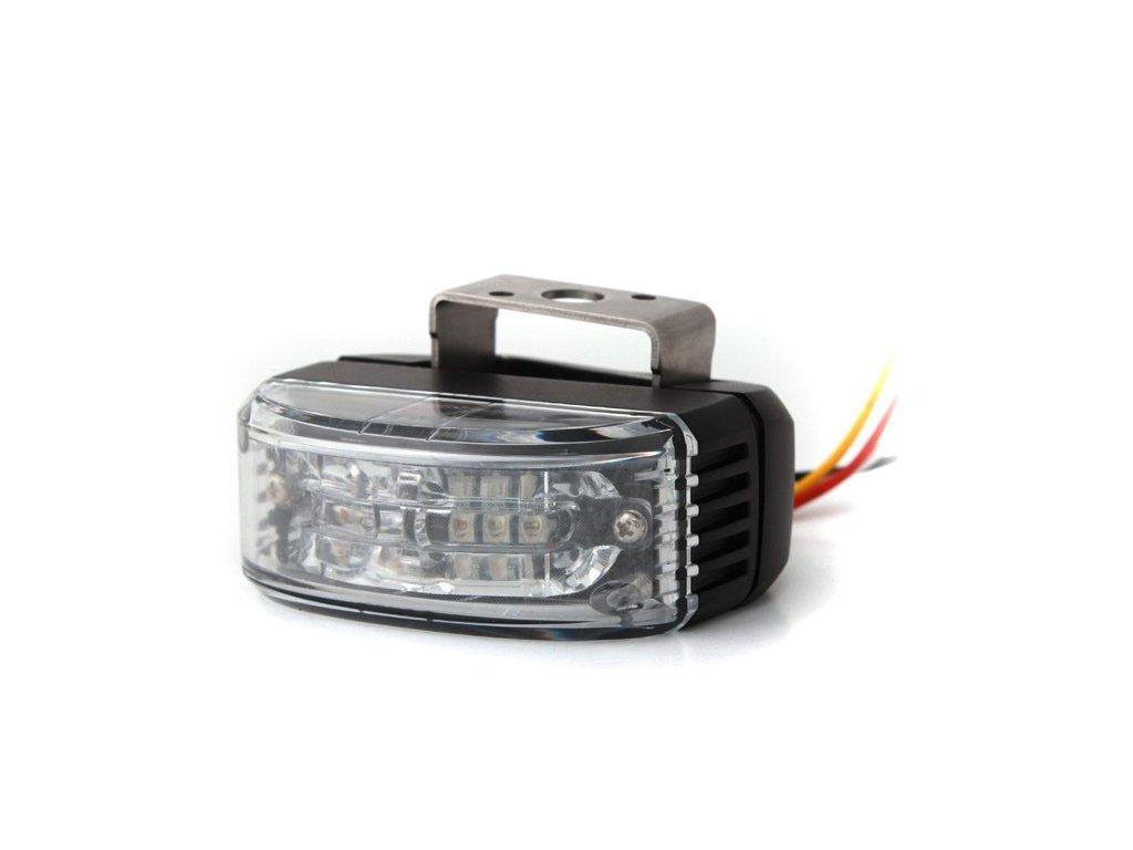Výstražné světlo do zpětného zrcadla, 6 LED, R65, oranžové AL6-MIR-A, AL6-MIR-A