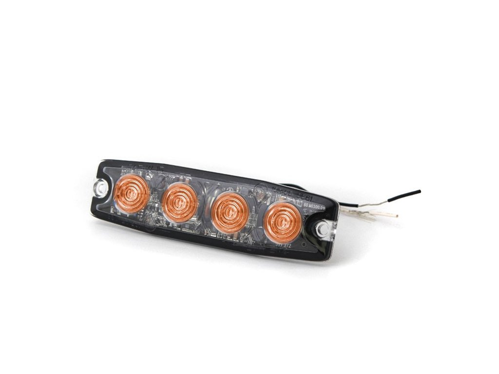 Poziční výstražná světla, 4 LED, 12-24V, oranžové LP4-A