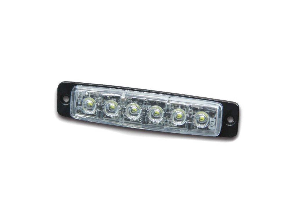 Poziční výstražné LED světlo, 12-24V, R65, modré, 911F6-B