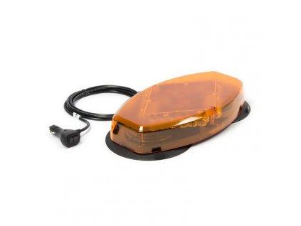 LED mini rampa, oranžová, magnetický úchyt, R65, oranžový kryt L04-MAG-AA