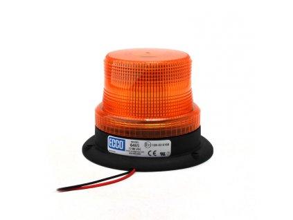 Výstražný LED maják, 3-bodový úchyt, 12-80V, oranžový 6465-A