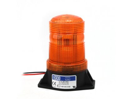 Výstražný LED maják, 2-bodový úchyt, 12-80V, oranžový 6262-A