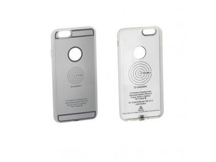Qi Nabíjecí pouzdro iPhone 6 / 6S, stříbrné Qi CASE IP6