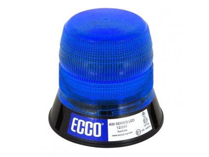 Výstražný LED maják, 3bodový úchyt, 12/24V, R65, modrý V11058B