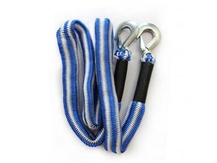 7553 tažné lano s karabinami pružné 170cm 440cm