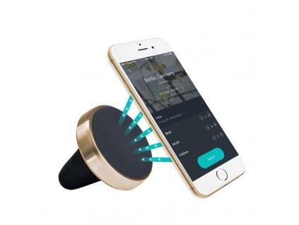 Magnetický držák smartfonu do mřížky ventilace, zlatý lem MH MAG GOLD