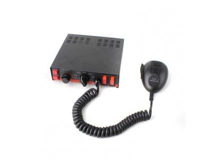 Výstražná siréna s mikrofonem a ovládáním světel, 11Ohm, SIR-1107