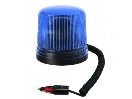 Modrý maják s úchytem na magnet, 15LED  B18-MAG-B