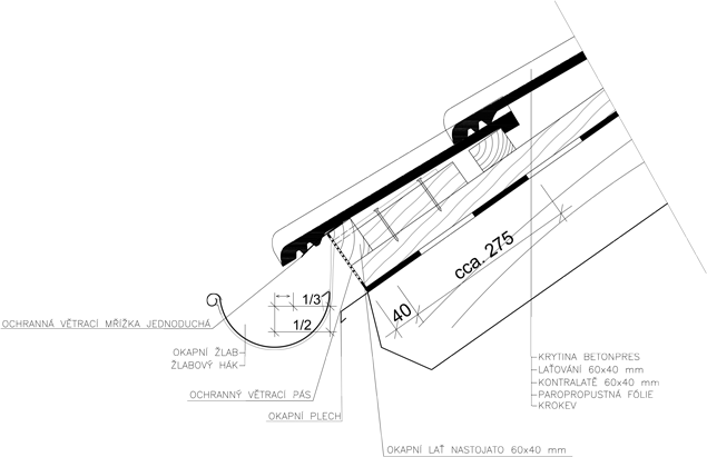 Detail_ukonceni_u_okapu