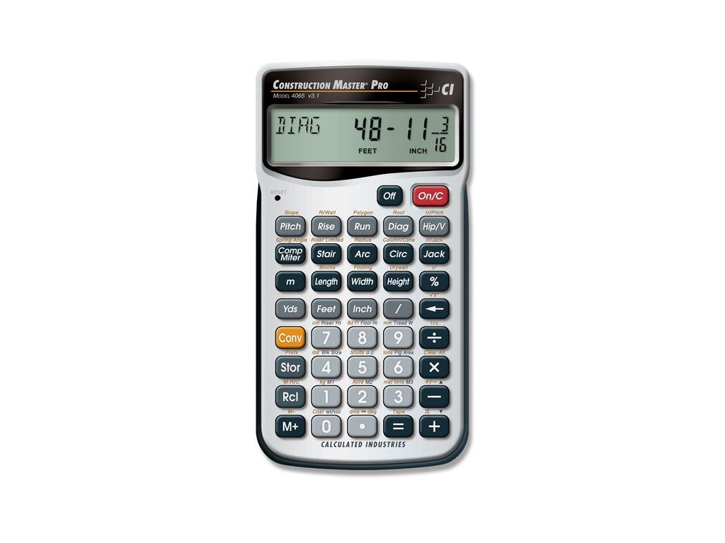 Tesařská kalkulačka Construction Master Pro